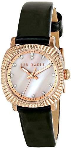 Ted Baker Te2120 Damen Stieg Gold & Schwarz Leder Uhr Leather