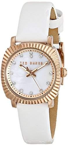 Ted Baker Te2122 Damen Stieg Gold & Weiss Leder Uhr Leather