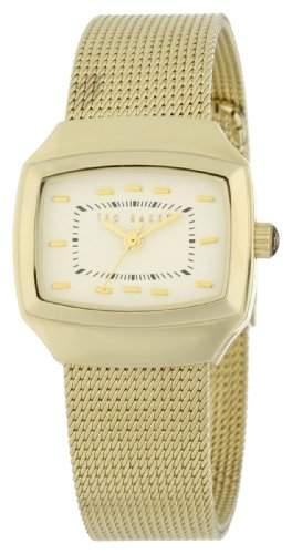 Ted Baker Damen-Armbanduhr Analog Edelstahl gold TE4046