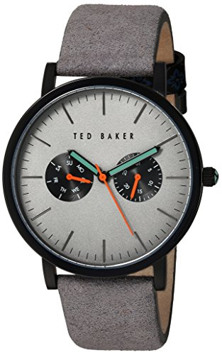 Ted Baker Gents Multi Dial Black Ion Grey Strap Watch