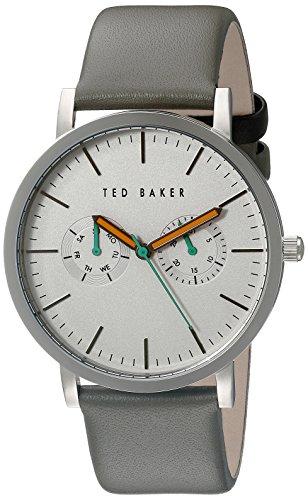 Ted Baker 40mm Armband Edelstahl Schwarz Gehaeuse Quarz Zifferblatt Weiss Analog TE1093