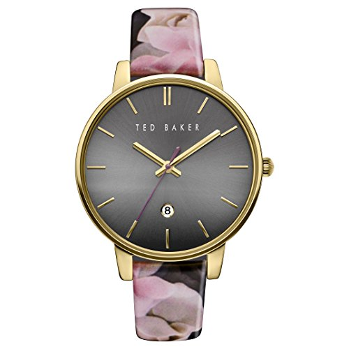 Ted Baker Ladies Gold Plated Pattern Strap Watch