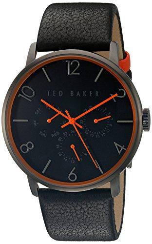 Ted Baker Herren schwarz Lederband schwarz Zifferblatt te10029566