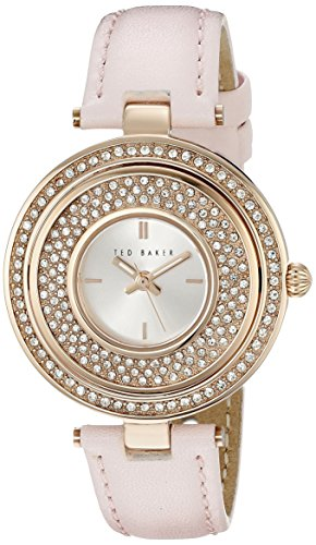 Ted Baker Rotating Ladies Rose Gold Strap Watch