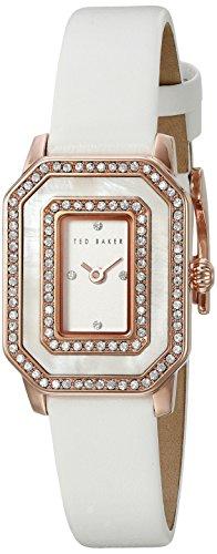 Ted Baker Te10023481 Damen Stieg Gold Und Weiss Leder Uhr Leather