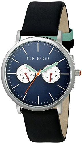 Ted Baker Te10024785 Blau Schwarz Leder Herren Uhr Leather