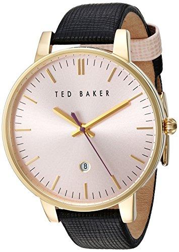 Ted Baker Damen vergoldet schwarz Armbanduhr