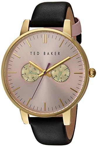 Ted Baker Damen vergoldet Multi Zifferblatt schwarz Armbanduhr
