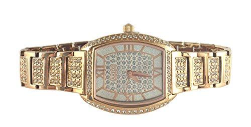 Aatos Damen Unisex Quarz Armband Uhr Rotgold Vergoldet mit ueber 350 Swarovski Steinen JuliusRG