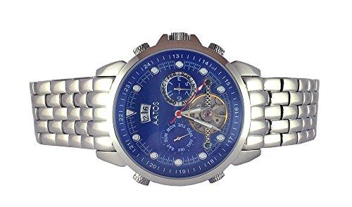 Aatos Herren Automatik Armband Uhr Edelstahl Blau NiraxSSBL