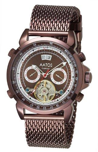 Aatos Herren Automatik Uhr Armband Edelstahl Milanaiseband AgabusBrBrBr
