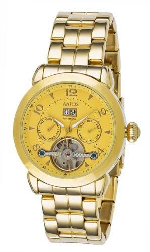 Aatos Damen Automatik Armband Uhr vergoldet mechanisch DoliaGGG