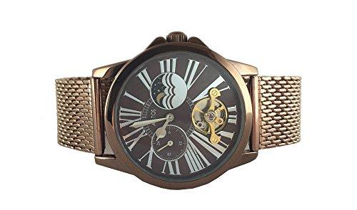 Aatos CeciliaBrBrBr Damen Handaufzug Milanaise Armband Uhr braun