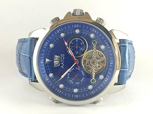 Aatos Herren Automatik Armband Uhr Blau NiraxLSBL