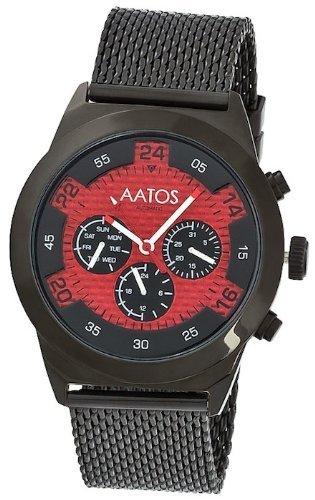 Aatos Schwarz Herren Automatik Armband Uhr WedusBBR