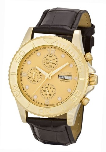 Aatos Vergoldet Herren Automatik Armband Uhr KaranisLGG