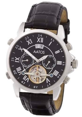 Aatos Herren Automatik Uhr Armband Edelstahl Lederarmband JaakkoLSB