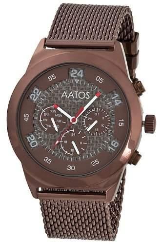 Aatos Braun Herren Automatik Armband Uhr WedusBrBrBr