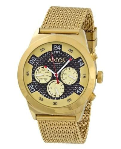 Aatos Vergoldet Herren Automatik Armband Uhr WedusGGB