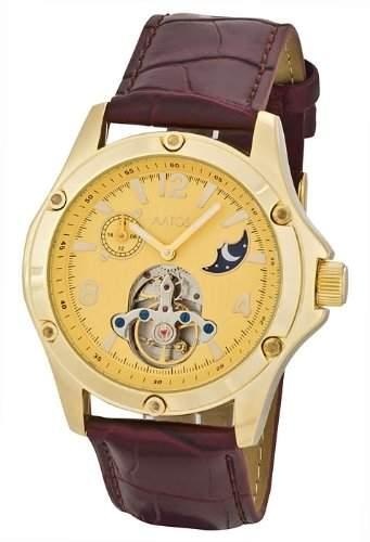 Aatos Vergoldet Herren Automatik Armband Uhr Edelstahl LuciusLGG