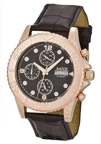 Aatos rosé Vergoldet Herren Automatik Armband Uhr KaranisLRgB