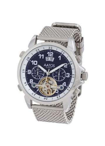 Aatos Herren Blau Edelstahl Automatik Uhr Armband Edelstahlarmband TiosSSDBl