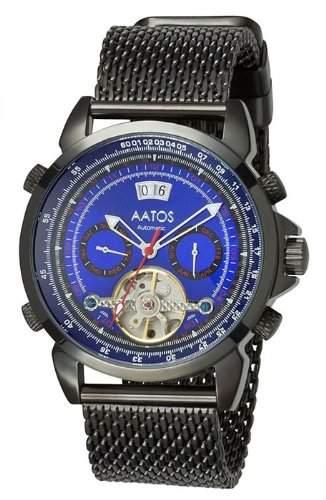 Aatos Herren Automatik Uhr Armband Edelstahl Milanaiseband AgabusBBBL