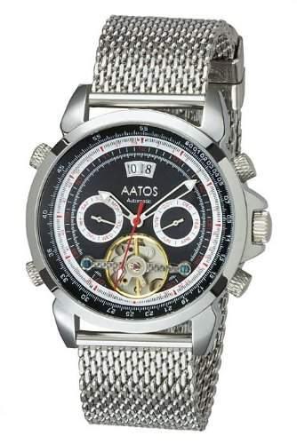 Aatos Herren Automatik Uhr Armband Edelstahl Milanaiseband AgabusSSB