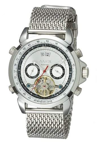Aatos Herren Automatik Uhr Armband Edelstahl Milanaiseband AgabusSSW