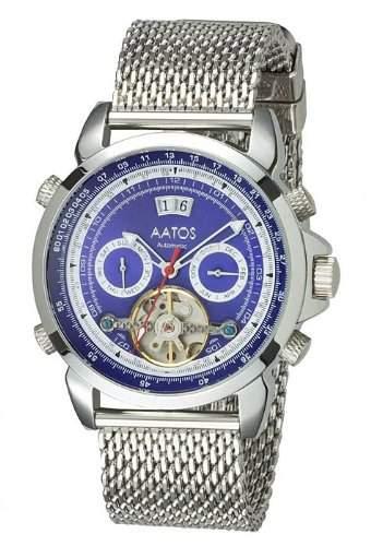 Aatos Herren Automatik Uhr Armband Edelstahl Milanaiseband AgabusSSBL