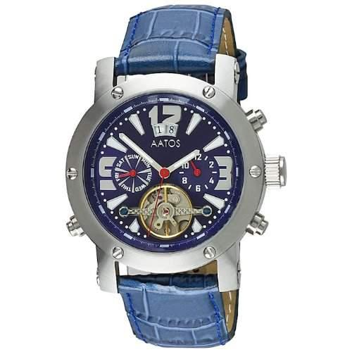 Aatos Herren Blaue Automatik Armband Uhr PrinosLSBL