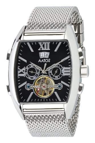 Aatos Edelstahl Herren Automatik Armband Uhr PollosSSB