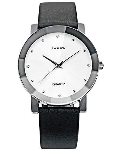 SINOBI Fashion Elegant Armbanduhr Herrenuhr Damenuhr Quarzuhr Jungen Uhr SNB022