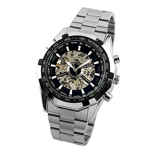 ESS Herrenuhr Automatik Uhr Skelett Edelstahl Armbanduhr WM469