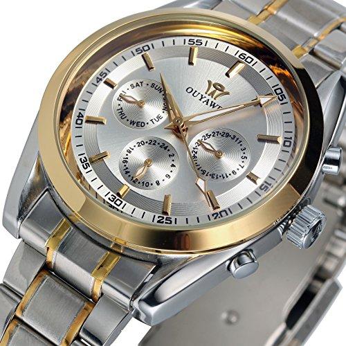 ESS Herrenuhr mechanisch Automatik Uhr Edelstahl Armband WM471