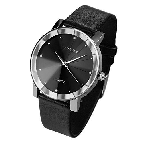 ESS Herrenuhr schwarz Armband Uhr Geschenk