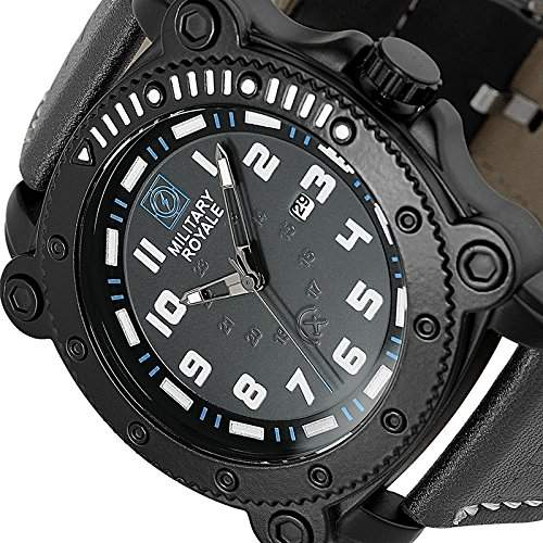 ESS Herrenuhr Fliegeruhr Herren Uhr Armbanduhr  Military Royale® MR086