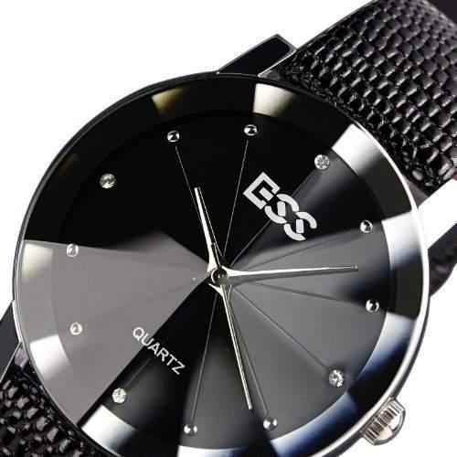 ESS Herrenuhr - schwarz Armband Uhr - Geschenk