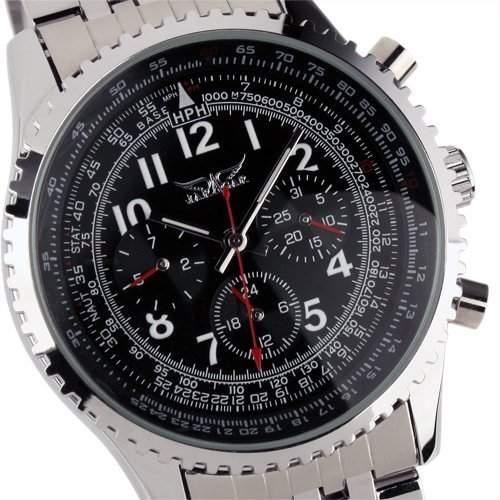 ESS - Herren Armbanduhr - Automatik mechanische Uhr - Edelstahl Armband - WM144 - Geschenk