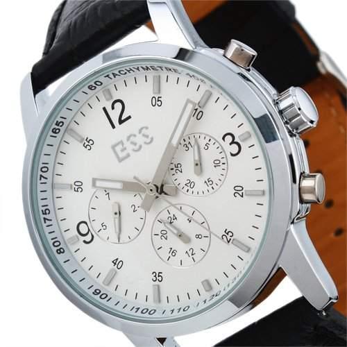 ESS - Herrenuhr - Automatik Uhr - Top Uhrwerk mit 6 Zeigern - Leder Armbanduhr - WM228-ESS