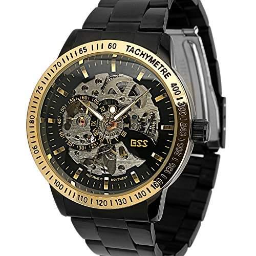 ESS Herrenuhr Automatik Edelstahl Armband Uhr Skelett NEU!  WM399-ESS