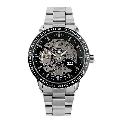 ESS Herrenuhr Automatik Edelstahl Armband Uhr Skelett NEU!  WM400-ESS