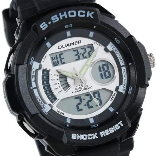 ESSHerren Armbanduhr Sportuhr Digital & Analog Armband Uhr Multifunktion  WS059 - Geschenk