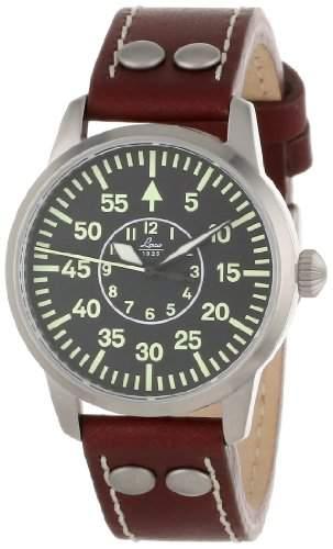 Laco 1925 Herren-Armbanduhr Laco Chrono 861587 Analog Automatik Leder Schwarz 861799