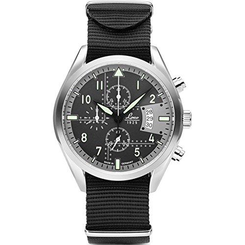 Laco Detroit Herren Chronograph Schwarz Nylonarmband 861917