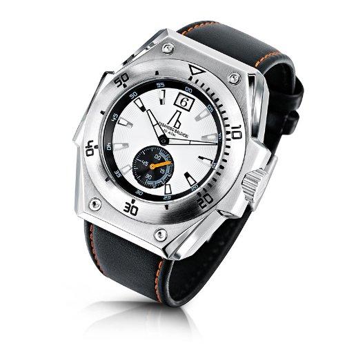 Alessandro Baldieri Seamonster II Inox Orange Analog Leder schwarz AB0071 ORG