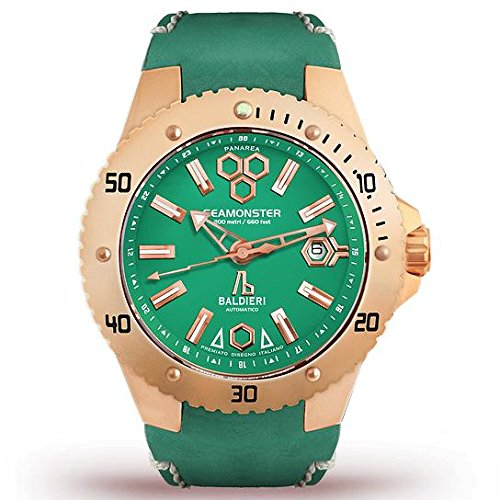 Green Rose Gold Seamonster Watch