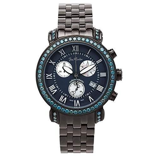 Joe Rodeo Diamant Herren Uhr - CLASSIC schwarz 55 ctw