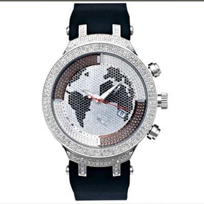 Joe Rodeo Diamond Watch JoJo Meister 2 20ct World Map