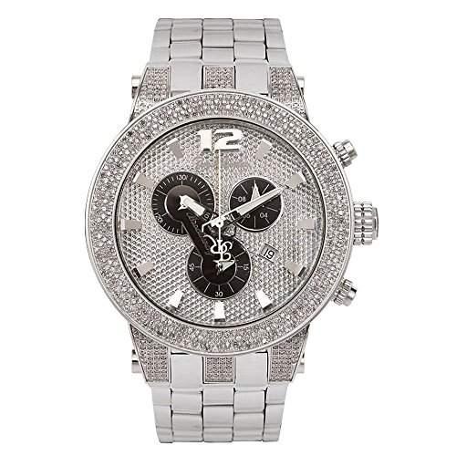 Joe Rodeo Diamant Herren Uhr - BROADWAY silber 5 ctw